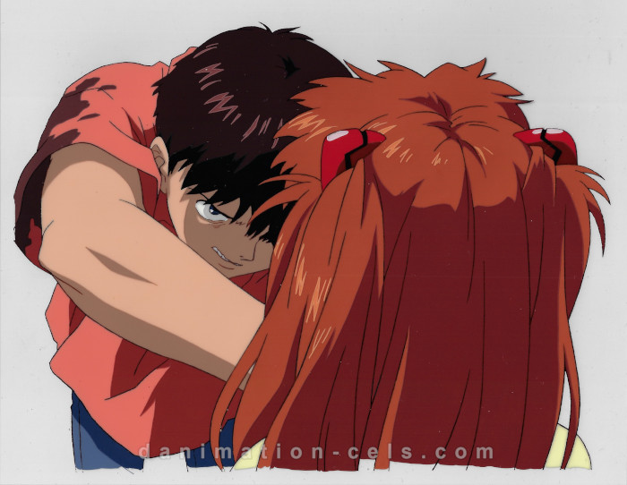 Evangelion Asuka and Shinji End of Evangelion Cel